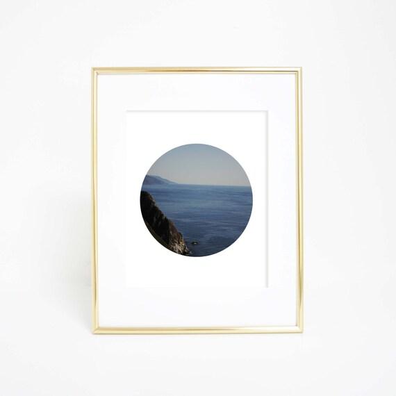 Printable Wall Art, California Wall Art, Circle Photography, Coastal Art, California Wall Print, Big Sur, Circle Wall Art, Printables