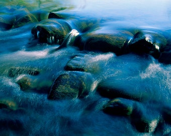 River Rocks Nature Photography Printed on Aluminum