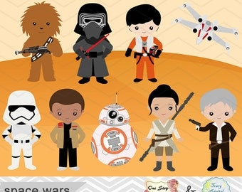 Printable Star Wars Clipart, Star Wars Digital Clip Art, Star Wars Party, Star Wars Printable, Instant Download 0227
