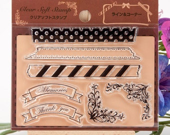 Clear stamps, clear stamp set (frames)