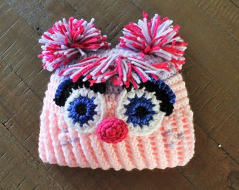 Abby Cadabby Hat - Handmade to Order - Newborn to Adult