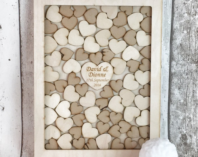 A3 Birchwood 80 mixed hearts Guestbook