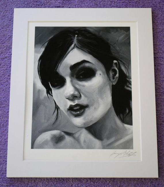 Sasha Grey Fine Art Print Dj Goth Porn Portrait Oil-4021