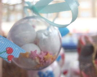 Personalised sweet filled wedding favours