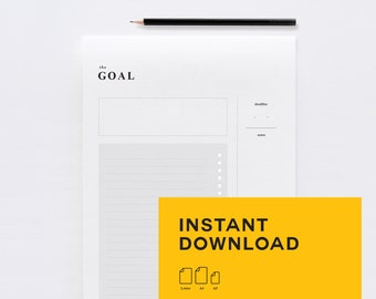 GOAL Planner - Instant Download