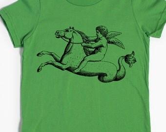 Children's Shirt - Seahorse Cupid Horse Shirt - Kids' gift - Fantasy Art