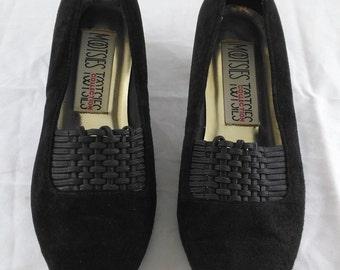 Vintage Black Mootsies Tootsies Leather Shoes