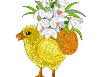 Machine Embroidery Design - Easter Chicken #3