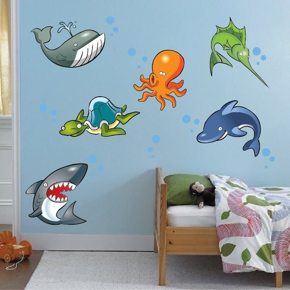 under the sea wall decal creatures ocean creature designs under the sea wall sticker