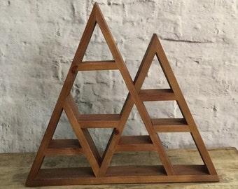 Rustic Mountain Geometric Display Shelf