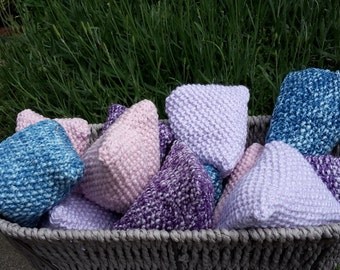 Set of 3 Lavender Bags Sachets Knitted Lavender Bags
