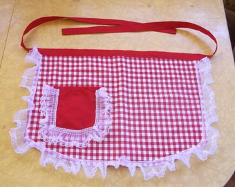 Gingham and Lace Apron