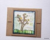 SALE!  Tree card, nature card, tree card, earth card, inspirational card, inspirational art, art card, mixed media card, art greeting card