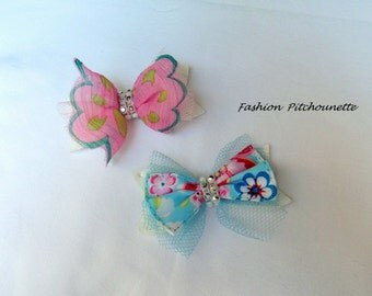 Barrette hair Click Clack baby child multicolor butterfly effect