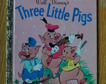 1976 Walt Disney's Three Little Pigs Little Golden Book