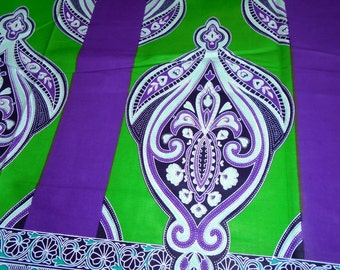 African Wax, Java Print, Cotton fabric