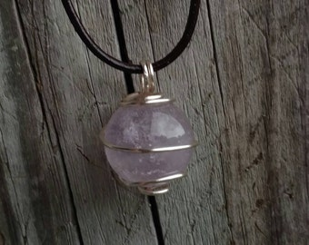 19mm Amethyst crystal ball pendant