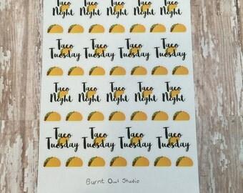 Taco Night Planner Stickers