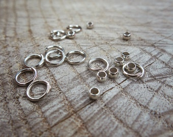 Rhodium Jumper Rings ~10 pieces #100920