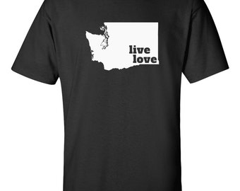 Washington T-shirt - Live Love Washington - My State Washington T-shirt