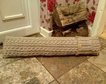 Knitting Pattern***Mock Cable Door Draft Stopper (Draft Excluder)