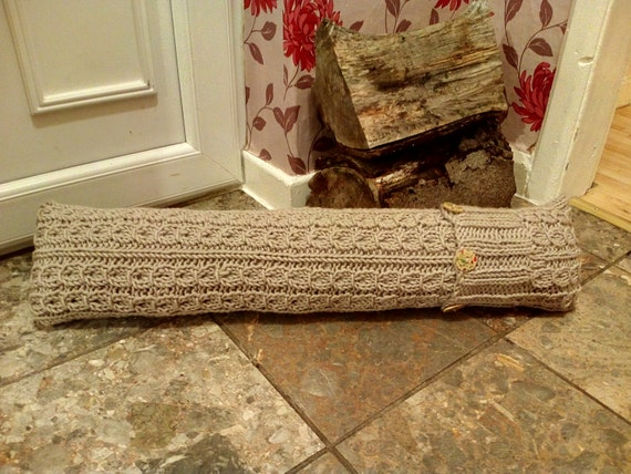 Draught Excluder Knitting Pattern : Draft excluder. Knitting pattern. Very detailed with lots of photos.Mock Cabl...