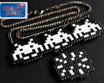 Space invader Necklace