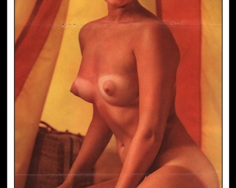 "Mature Playboy August 1965 : Playmate Centerfold Lannie Balcom 3 Page Spread Photo Wall Art Decor 11"" x 23"""