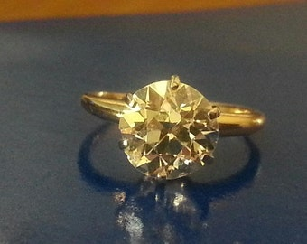 Antique Diamond Solitaire Ring SEND  OFFER