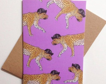 NYC Leopard Greeting Card