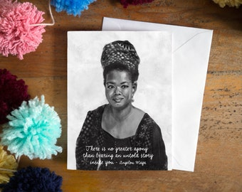 "Shop ""maya angelou quote"" in Drawing & Illustration"