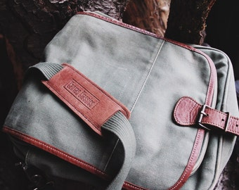 Vintage Army Green Crossover Bag
