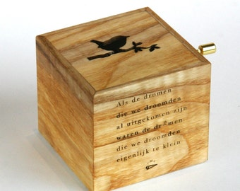 Music box by ash wood from Amsterdam. Melody: Lullaby, Brahms
