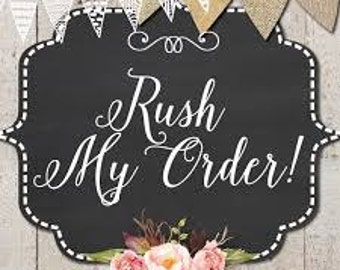 Rush My Order // Rush Order Add On // Bump My Order