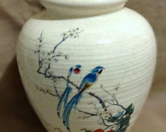 Oriental Birds & Flowers Vintage Vase