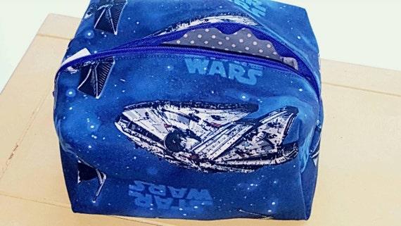Star Wars Millennium Falcon inspired makeup bag.