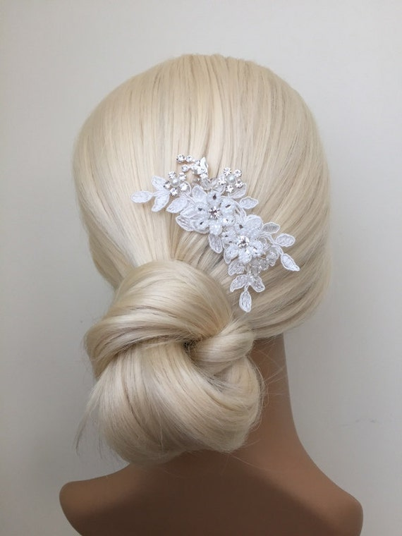 bridal hair accessories wedding head piece ivory lace