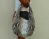 Made to order python medium hobo bag - medium, leather hobo bag, python bag, python leather bag, python hobo bag, hobo bag, python hobo bag