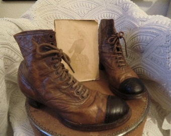 Victorian boots vintage antique french shabby