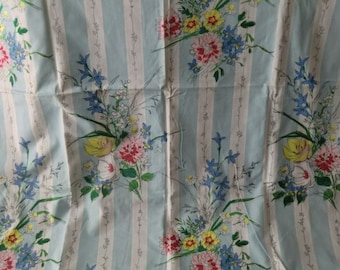 Vintage fabric 50s 60s fabic cotton curtain curtain cottage farmhouse cottage