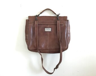 Leather Messenger Bag - Vintage Brown Leather Satchel - Laptop Carrier - BAG-10