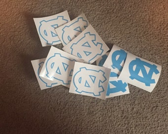 UNC Decal North Carolina University Decal UNC Outline Tar Heels