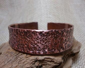 Hammered Copper Bangle Bracelet