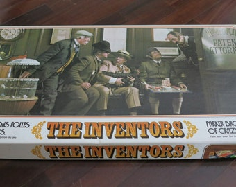 Vintage 1974 THE INVENTORS Crazy Inventions Board Game by Parker Brothers