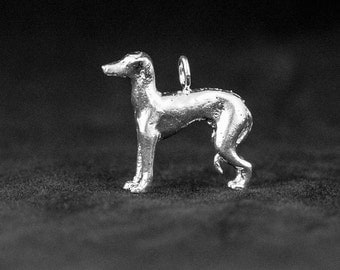 Sterling Silver Italian Greyhound Charm