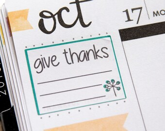 Give Thanks Planner Stickers | Gratitude Planner Stickers | Thankful Stickers