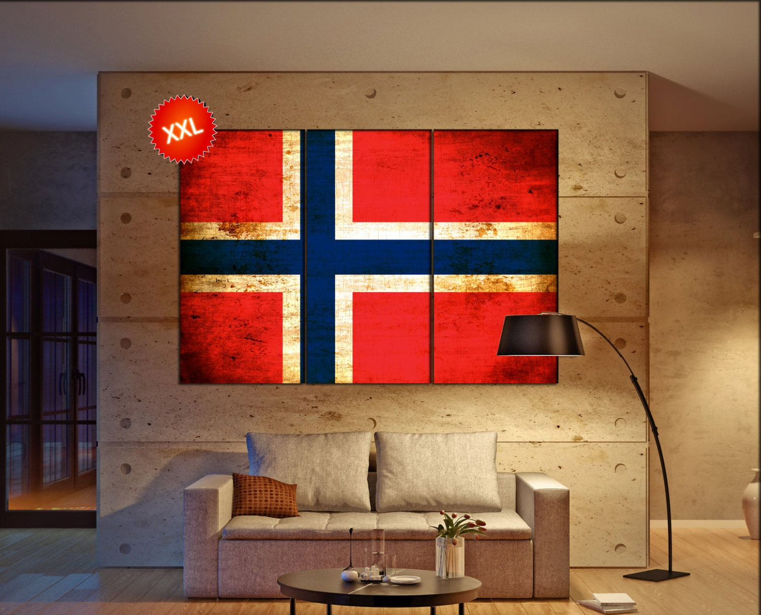 norway flag canvas art print large wall art canvas print norway