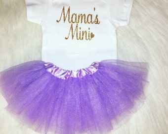 Mama's mini baby girl outfit, baby girl clothes, baby girl onesie, baby girl shirt, Mother's Day gift
