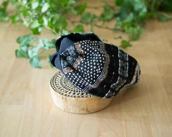 Headband - gold, black and white