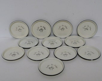 French Enameled Coasters, Set of 12